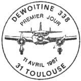 Oblitération 1er jour à Toulouse le 11 avril 1987