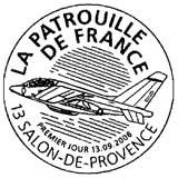 Oblitération 1 jour  à Salon de Provence, Saint Jacques de la Lande, Cormeille en Vexin les 13 et 14 septembre 2008